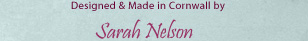 designed and made in Cornwall by Sarah Nelson  ::  Goose Chase Designs